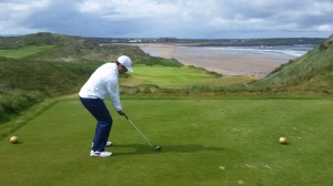 Aaron golfing at Trump International - Doonbeg
