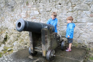 Nothing like big brother teaching little brother how to load a cannon!