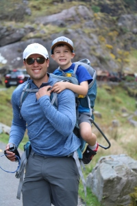 Both look excited for hours of father-son time climbing the Gap of Dunloe!