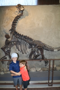 Boys love dinosaurs and each other!