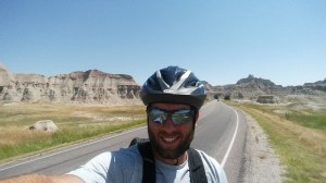 Aaron's 30 mile bike ride in Badlands National Park