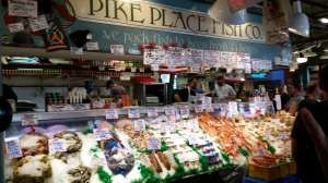 Boys Loved Flying Fish at Pike Place Fish Market!