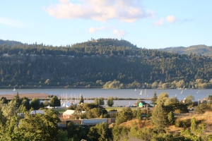 View from the hills in Hood River, Oregon