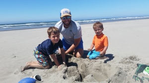 Sandcastle building begins