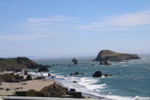 Crashing waves along the coast