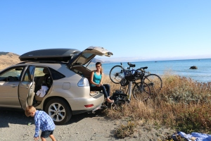 Top picnic to date - hatchback style along empty beaches and mountains.