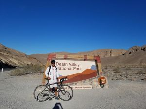 So proud of Aaron for biking 25+ miles in Death Valley National Park!