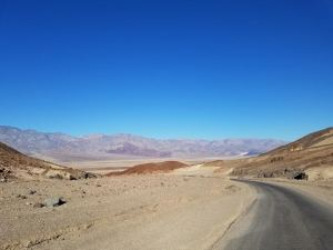 Death Valley biking pic - basically in the middle of no where heading no where!