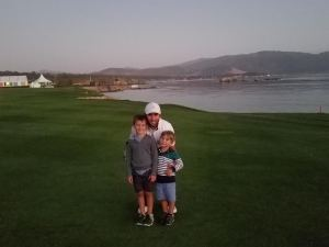 Boys at Pebble Beach