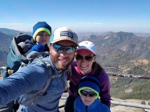 Top of Mora Rock in Sequoia National Park