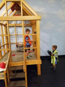 Boys constructing a new house at Monterrey County Youth Center