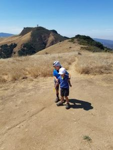 See the X? Boys found treasure location at the top of the mountain within Garland Ranch!