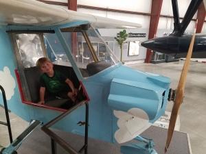 Samuel loved the little blue plane