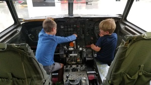 Pima Air & Space Museum - boys practicing to fly!